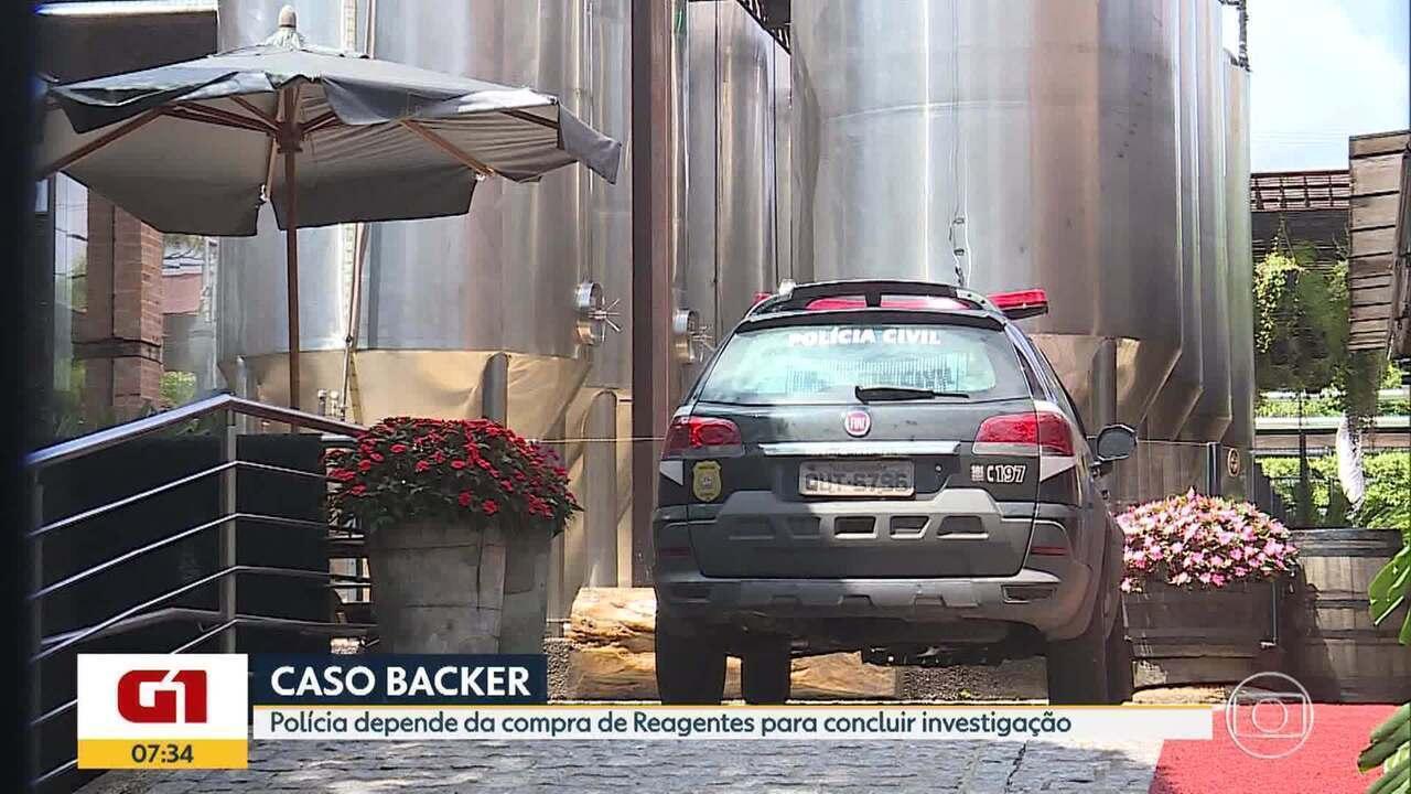 G1 no BDMG: Polícia aguarda compra de reagentes para investigações do caso Backer