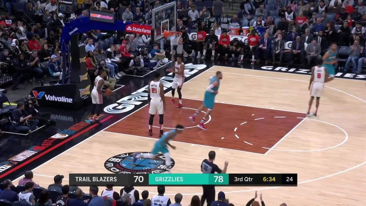 Melhores momentos: Memphis Grizzlies 111 x 104 Portland Trail Blazers, pela NBA