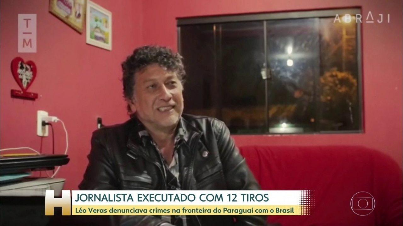 Jornalista é executado com 12 tiros na fronteira do Brasil com o Paraguai