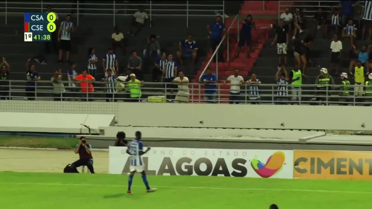 Assista aos gols de CSA 1 x 1 CSE, pela terceira rodada do Campeonato Alagoano