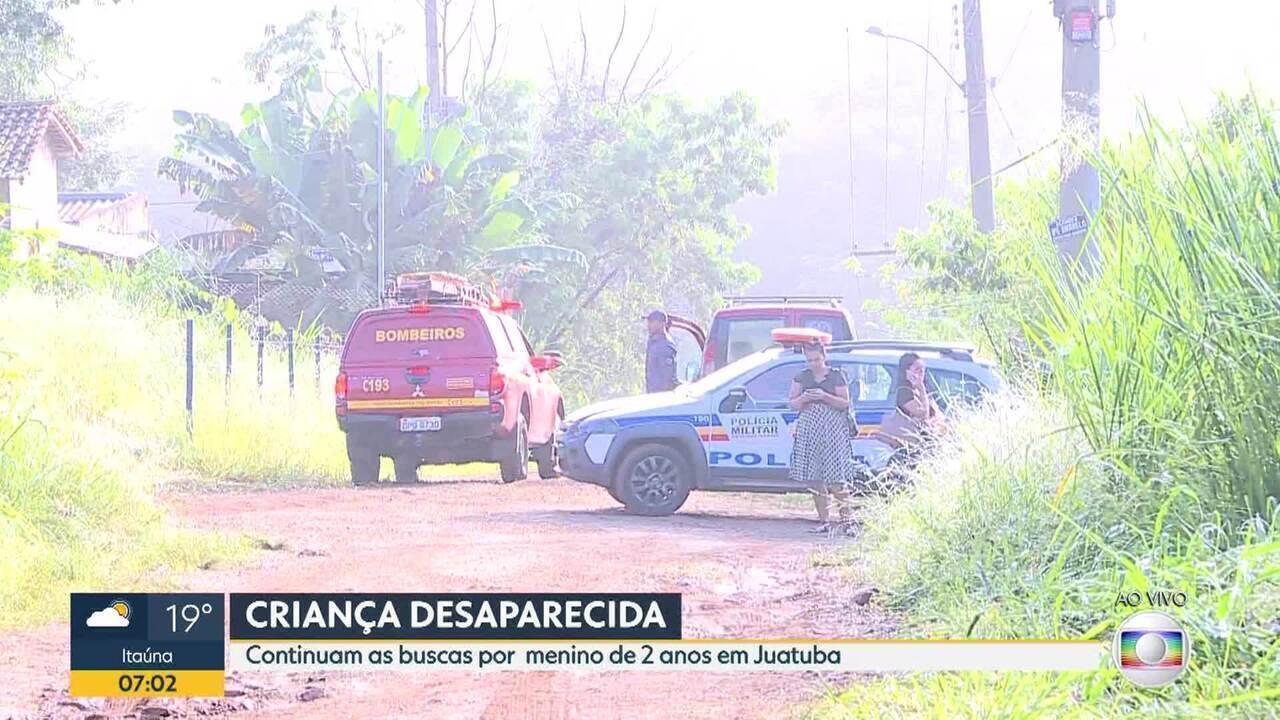 Corpo de criança é avistado em área de buscas por menino desaparecido em Juatuba
