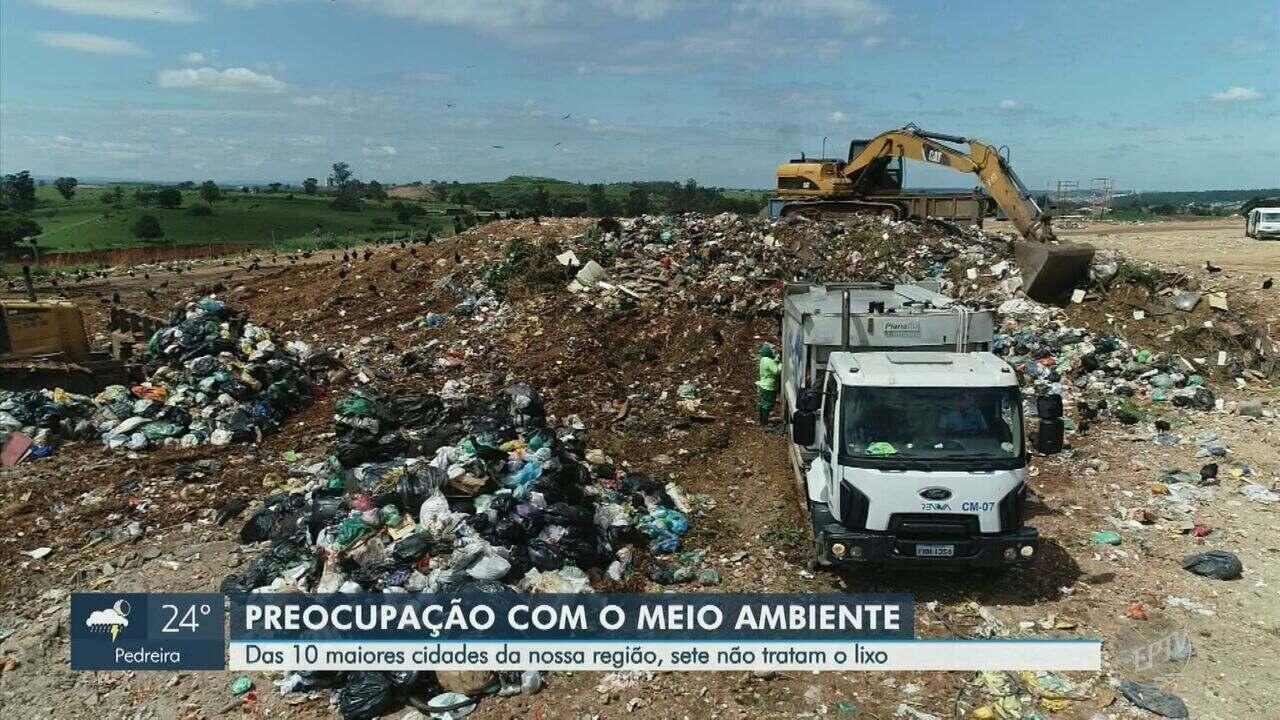 Relatório aponta que sete das 10 maiores cidades da região de Campinas não tratam lixo