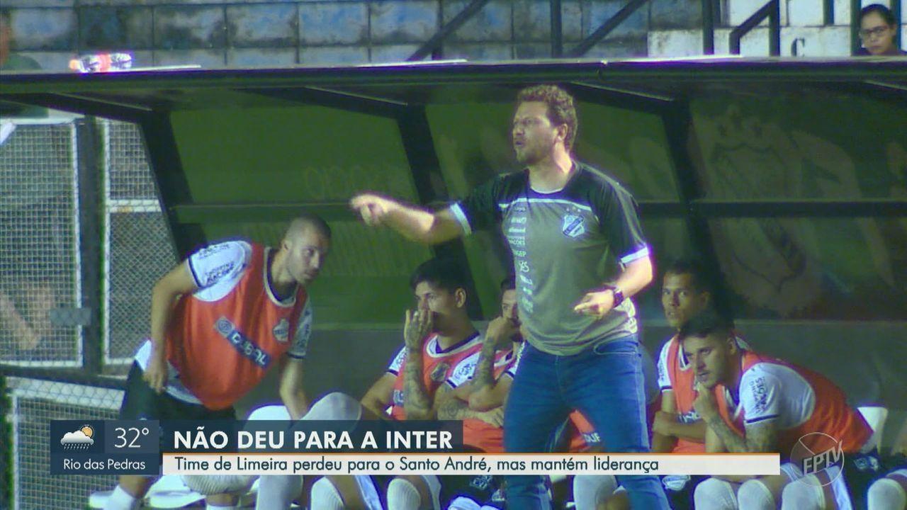 Inter de Limeira perde para o Santo André, mas mantém liderança