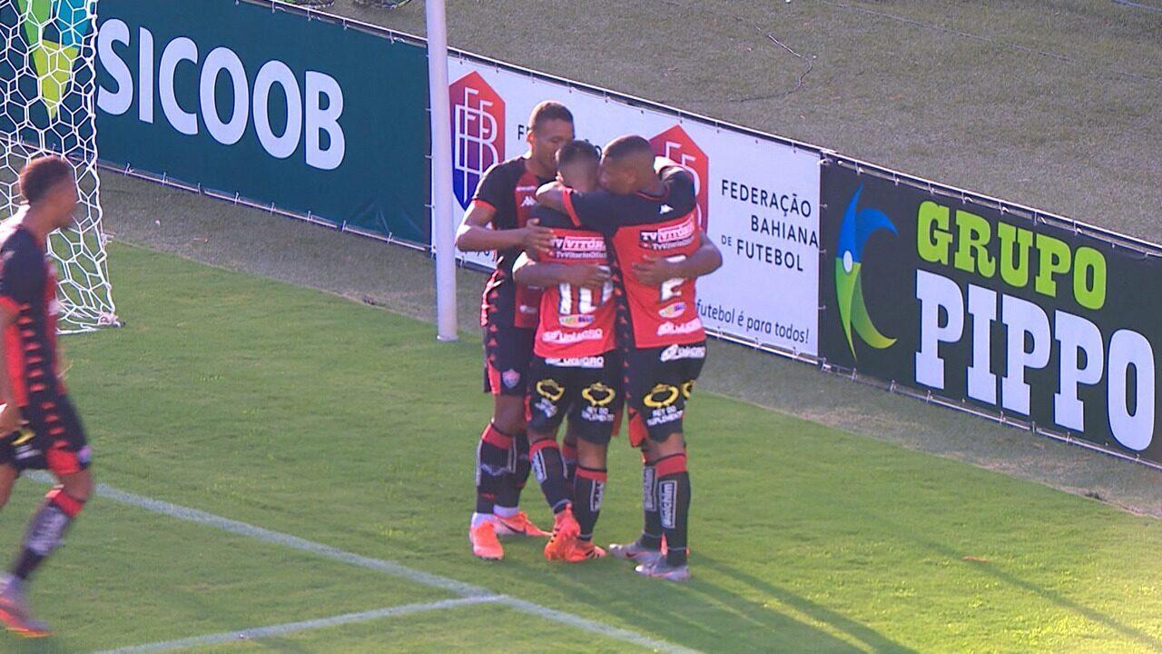Giovane Mário fez o primeiro gol do Vitória no triunfo sobre o Atlético de Alagoinhas