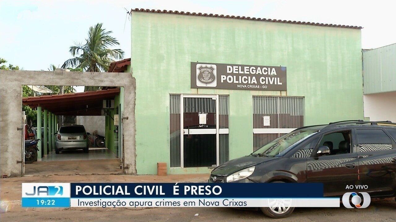Policial civil é preso em operação da Corregedoria e do MP, em Nova Crixás