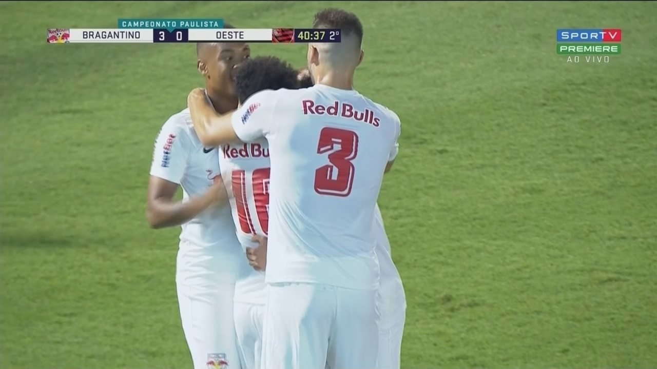 Veja os gols de Bragantino 3 x 0 Oeste pela 6ª rodada do Paulistão 2020