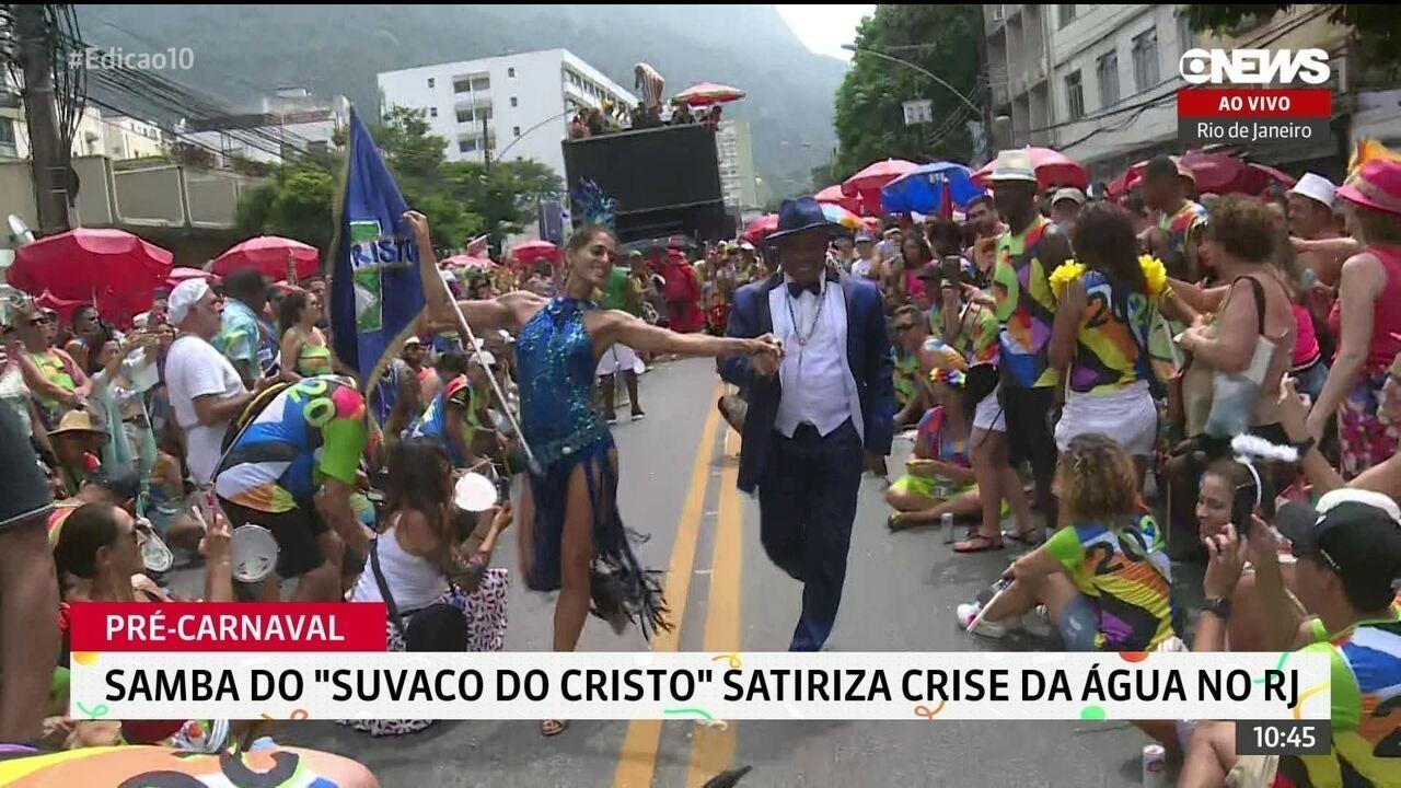 Samba do 'Suvaco do Cristo' faz crítica à crise da água no Rio