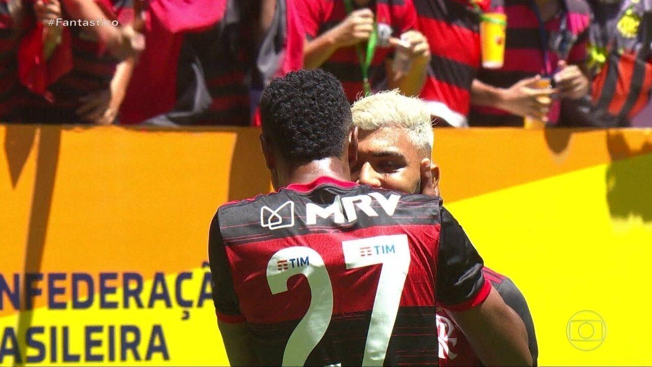 Gols do Fantástico: Flamengo vence a Supercopa do Brasil