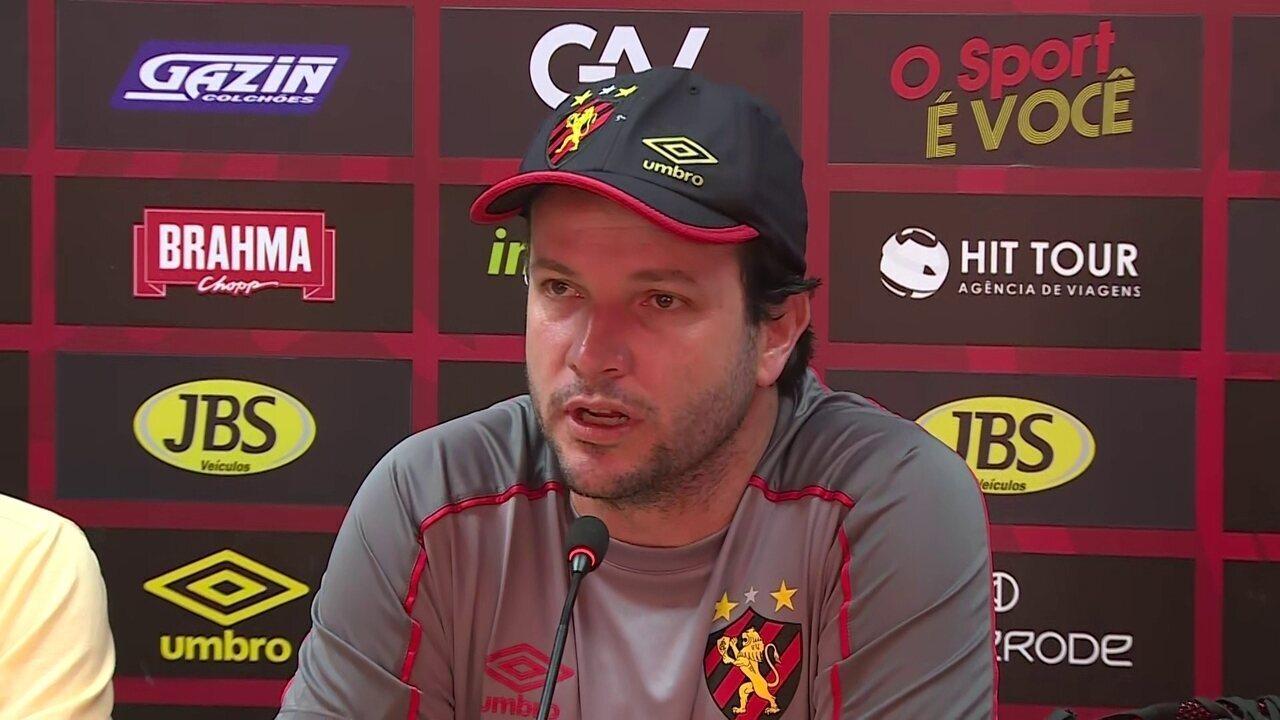 Daniel Paulista é apresentado como novo técnico do Sport
