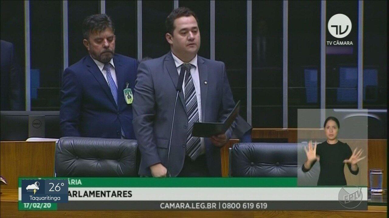 Ricardo Silva toma posse como deputado federal na Câmara em Brasília, DF