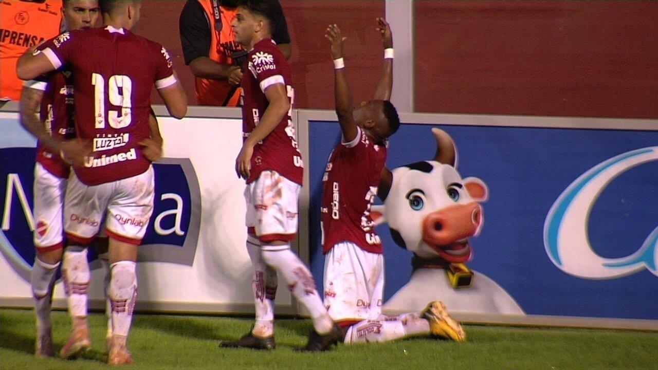 Confira o gol de Vila Nova 1x0 Crac pelo Goianão