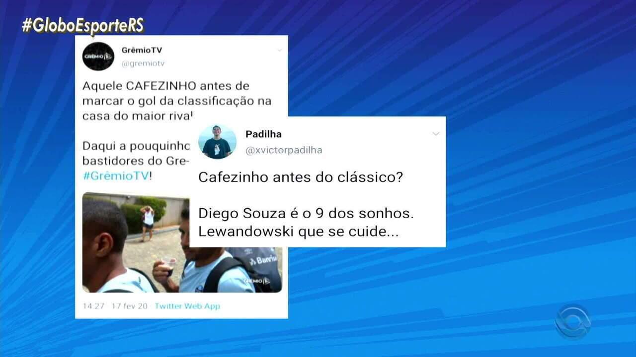 Diego Souza fala sobre o gol no Gre-Nal e o gosto por cafezinho