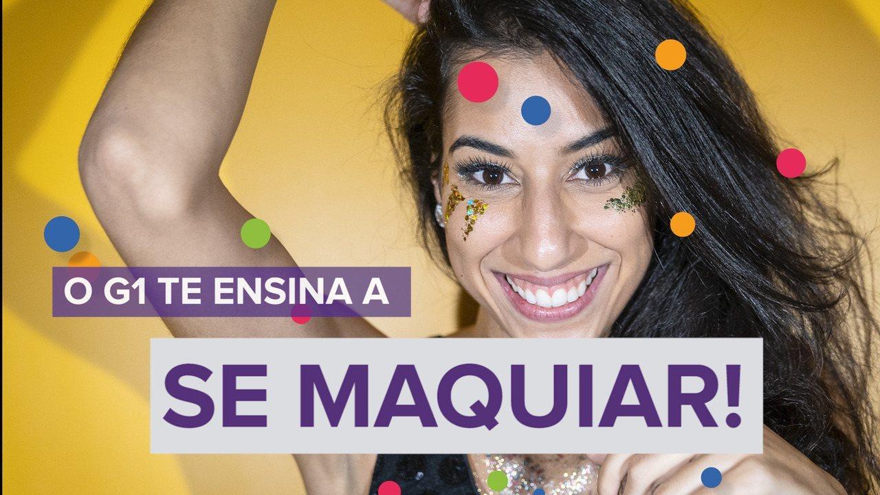 """A série """"Aprenda antes do carnaval"""" te ensina a se maquiar usando glitter ecológico"""