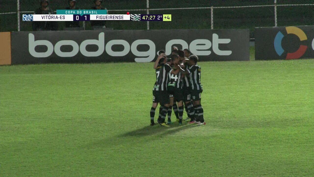 Gol de Vitória-ES 0 x 1 Figueirense pela segunda fase da Copa do Brasil