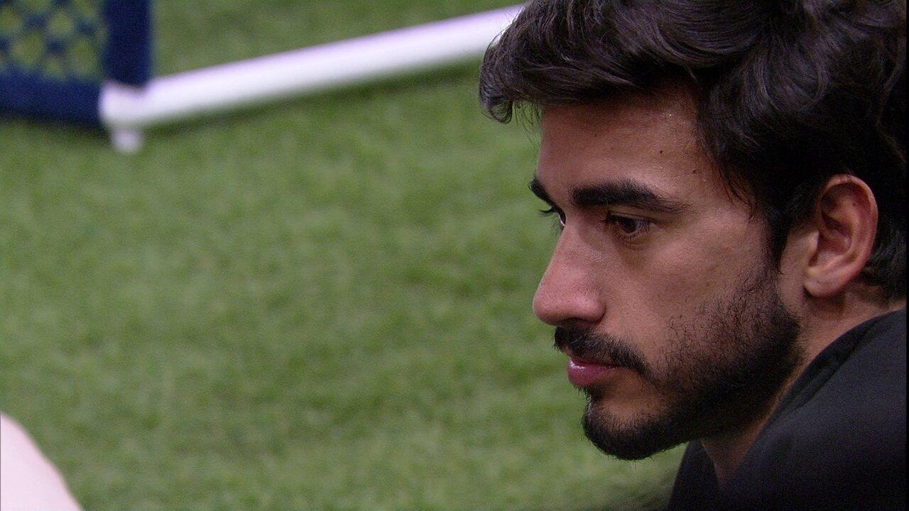 Guilherme diz que não queria liderança com Gabi e fala de brothers