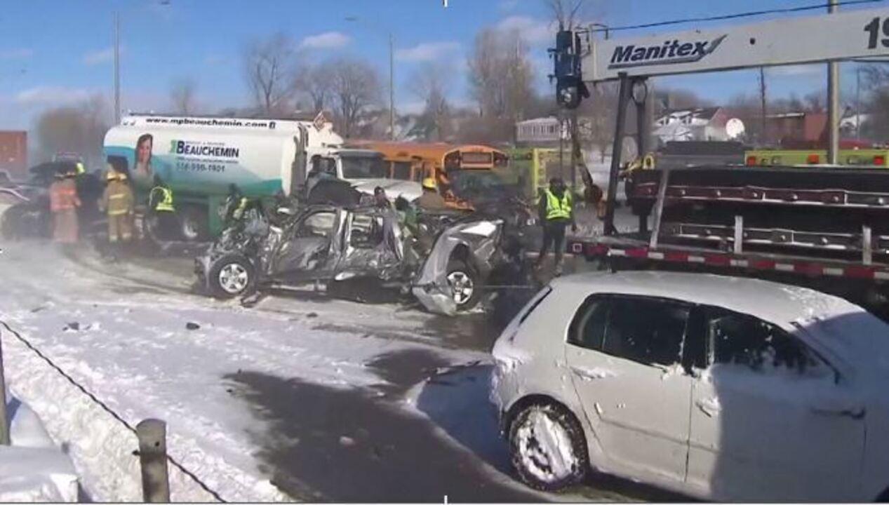 Acidente perto de Montreal deixa pelo menos 60 feridos