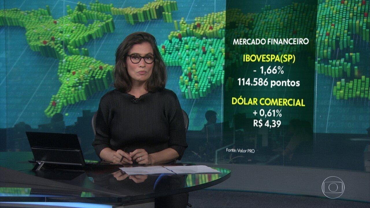 Mercado financeiro tem pregão turbulento por causa de temor do novo coronavírus