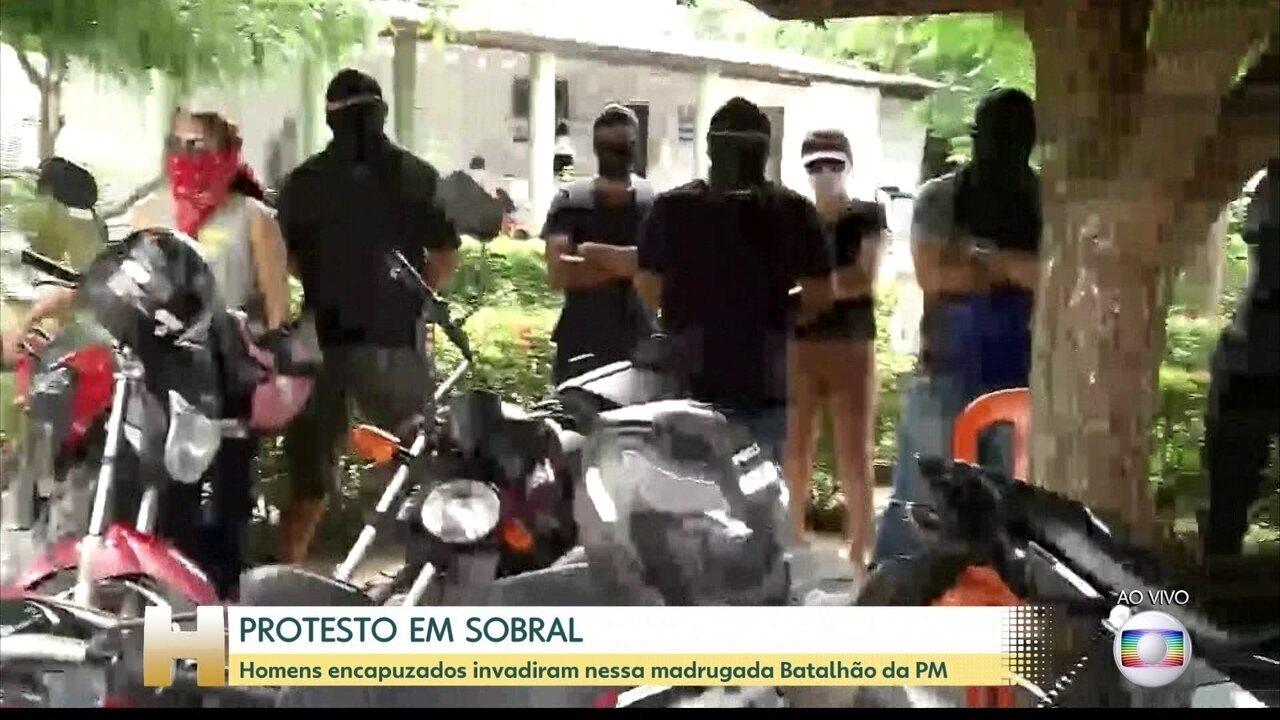 Homens encapuzados invadem mais um batalhão da PM no Ceará