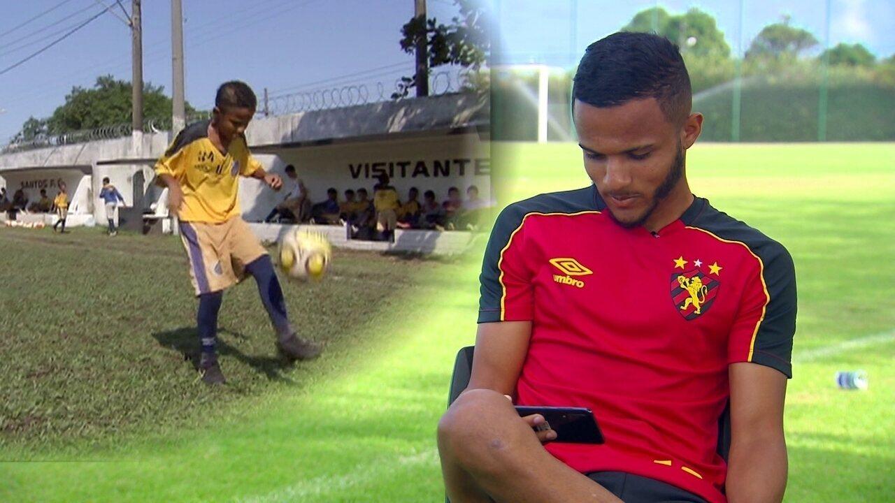 """Maxwell, do Sport, lembra de quando virou matéria no Jornal Nacional: """"Cheio de sonho"""""""