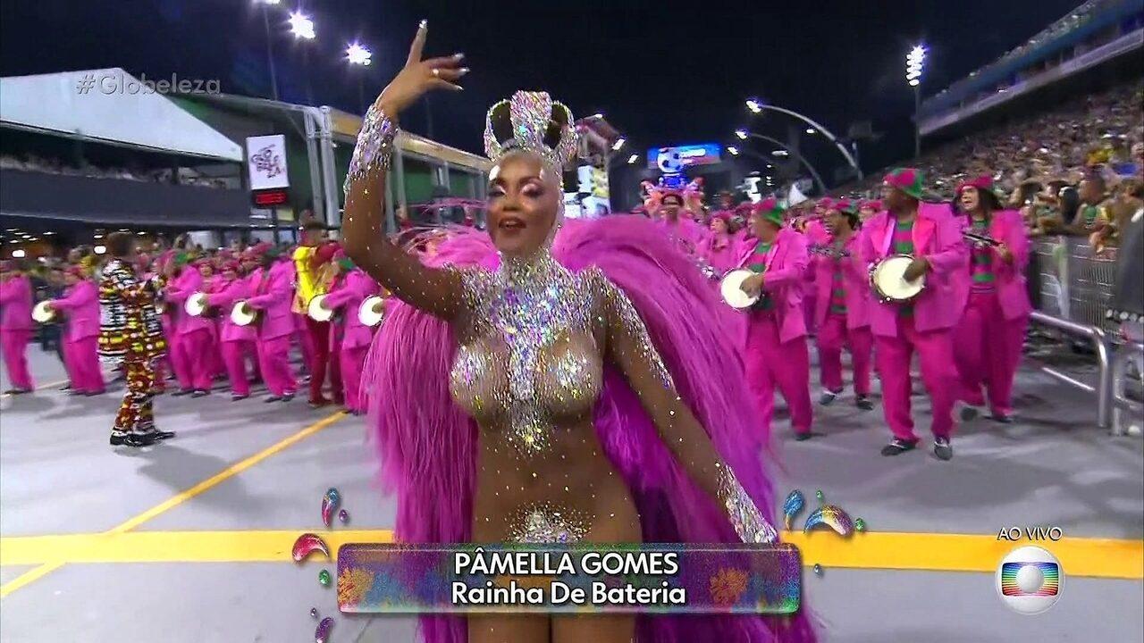 Pamella Gomes é a rainha de bateria da Tom Maior