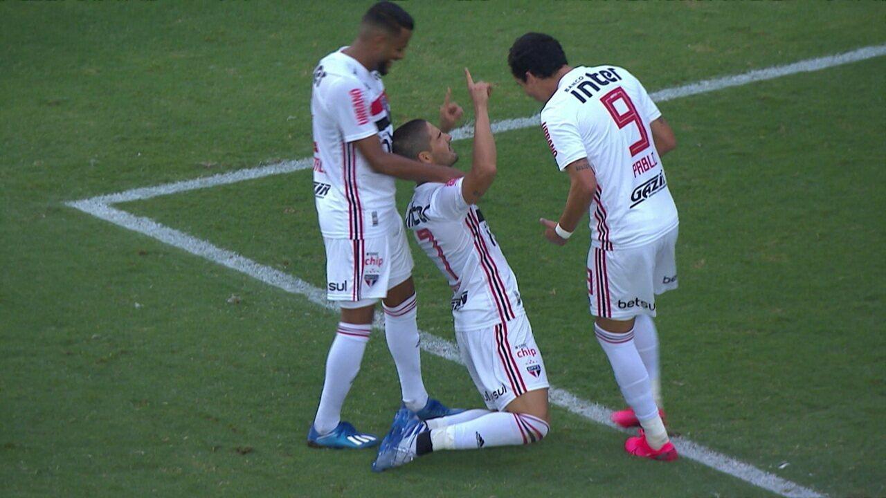 Gols de Oeste 0 x 4 São Paulo pela 7ª rodada do Campeonato Paulista