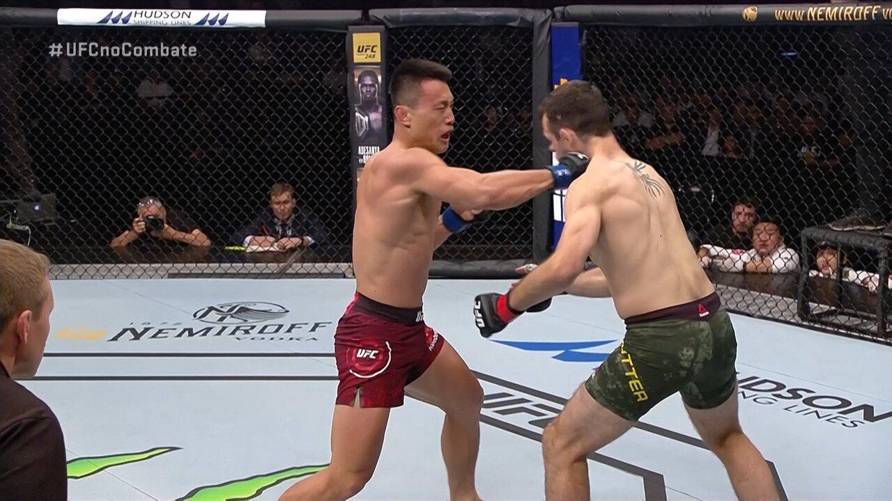 Melhores Momentos de Callan Potter x Kenan Song no UFC Auckland, em 22/02/2020