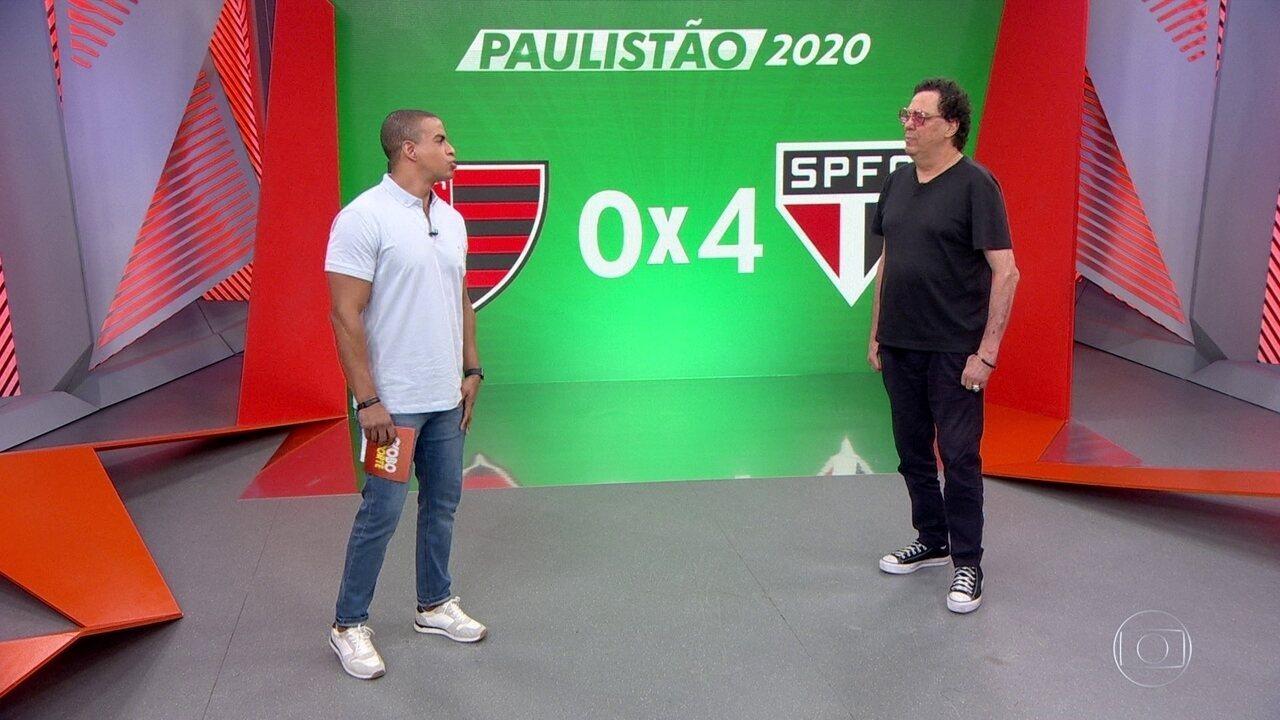 Casagrande analisa a goleada do São Paulo
