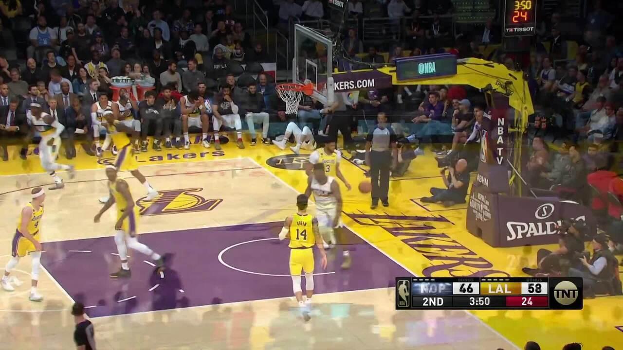 Melhores momentos de Los Angeles Lakers 118 x 109 New Orleans Pelicans pela NBA