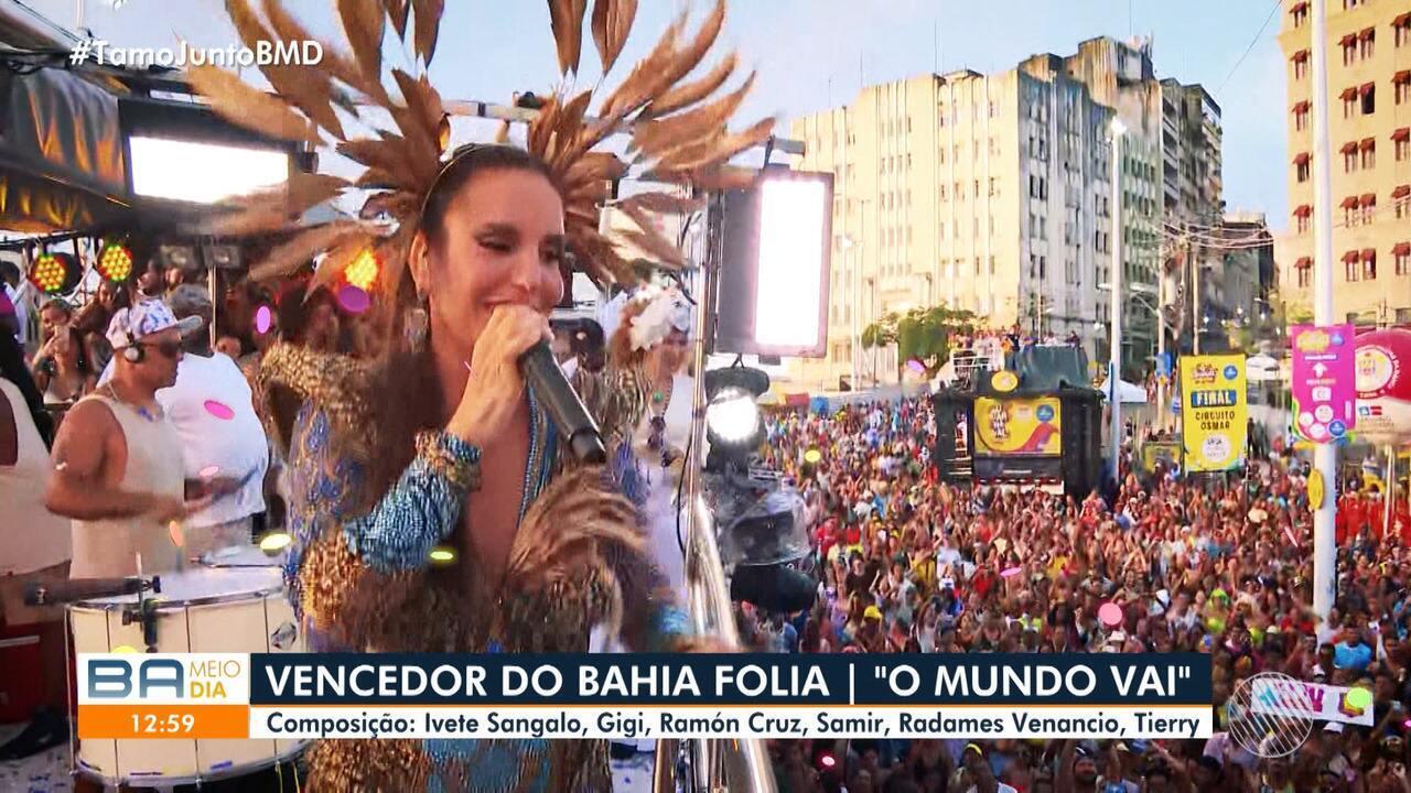 Resultado de imagem para Bahia Folia: 'O Mundo Vai', de Ivete Sangalo, é eleita música do carnaval 2020