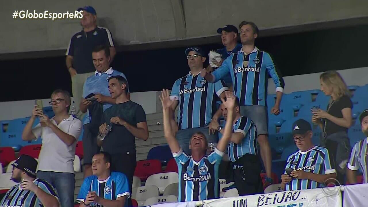 Grêmio vence o América de Cáli com gols de Victor Ferraz e Matheus Henrique