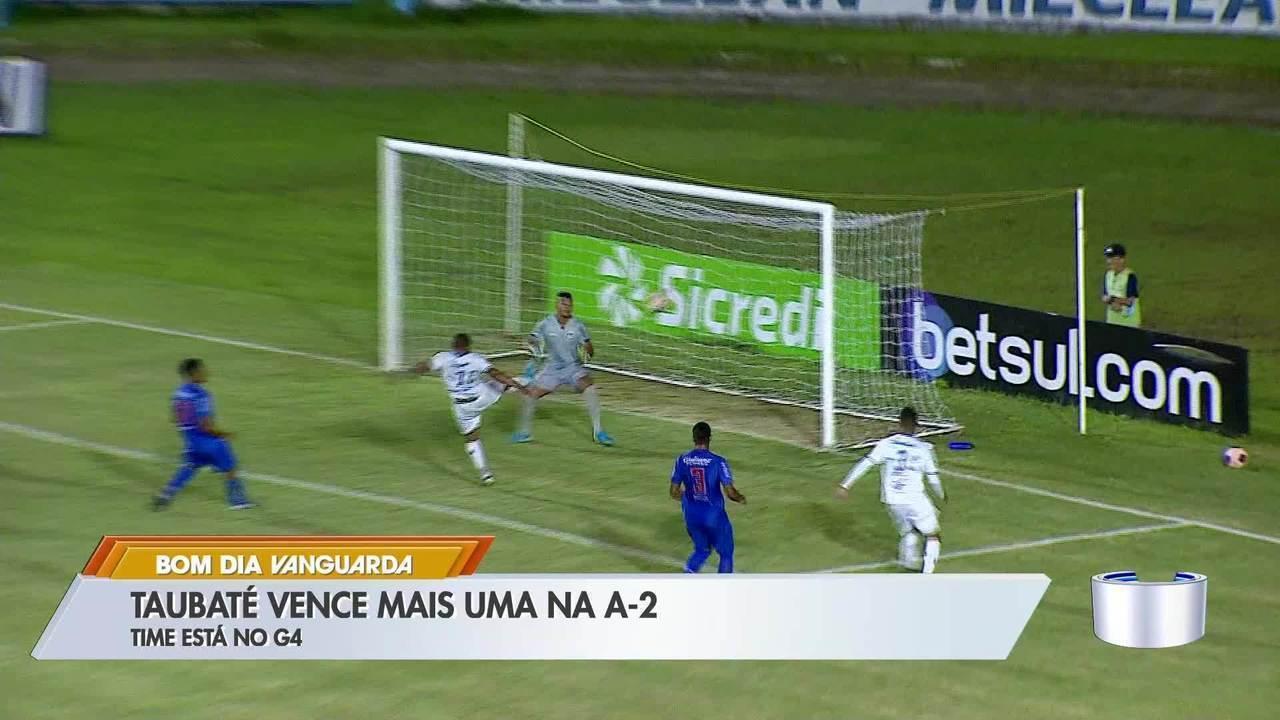 Taubaté vence São Caetano de virada e cola nos líderes da Série A2 do Paulista