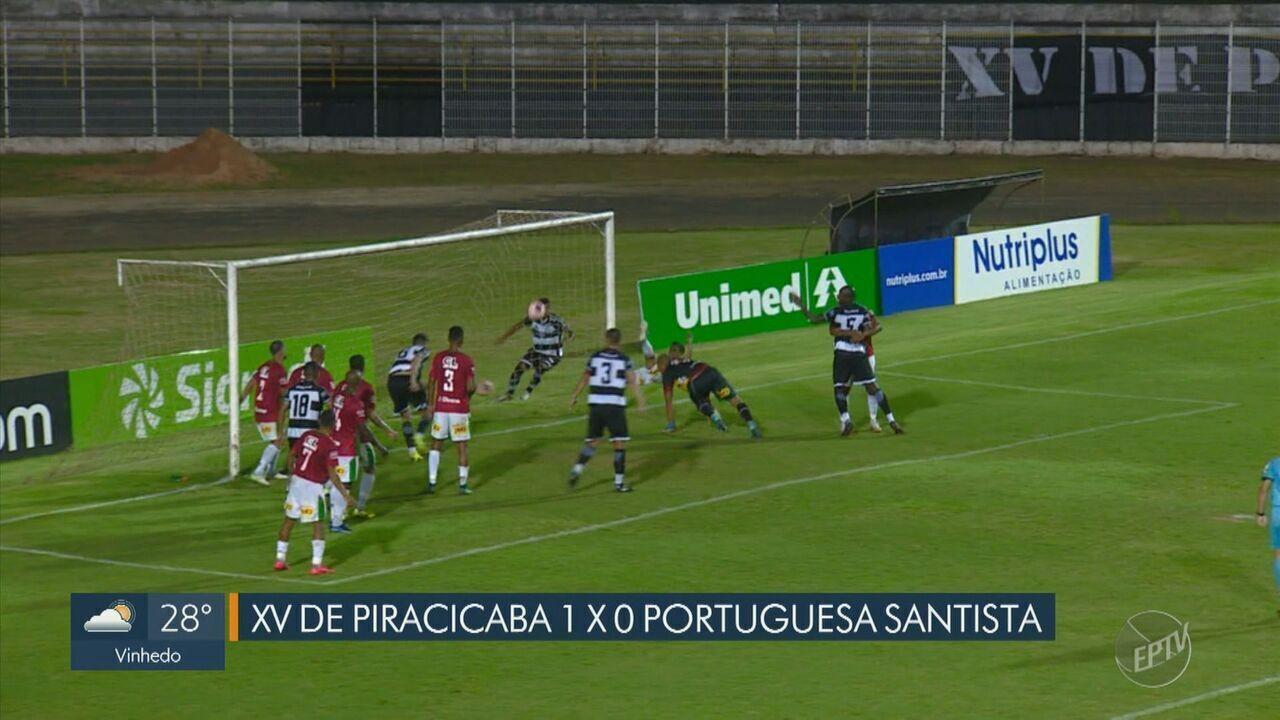 XV de Piracicaba marca no fim e vence jogo tenso contra a Portuguesa Santista
