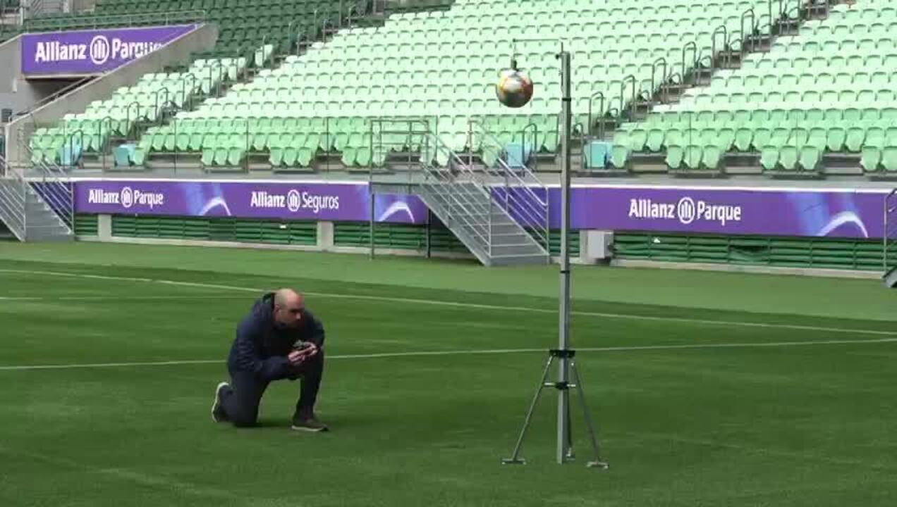 Testes da Fifa na arena do Palmeiras: absorção de impacto