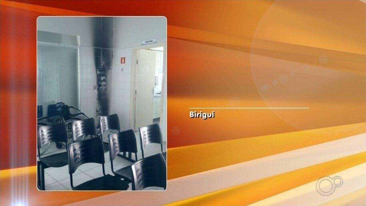 UBS de Birigui não terá atendimento após princípio de incêndio causado por pane elétrica