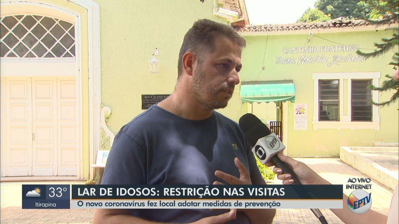 Lar de idosos, em São Carlos, adota medidas de prevenção contra coronavírus