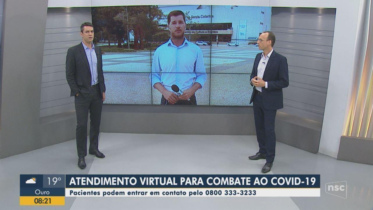 Serviço virtual presta atendimento para combater o coronavírus em Florianópolis