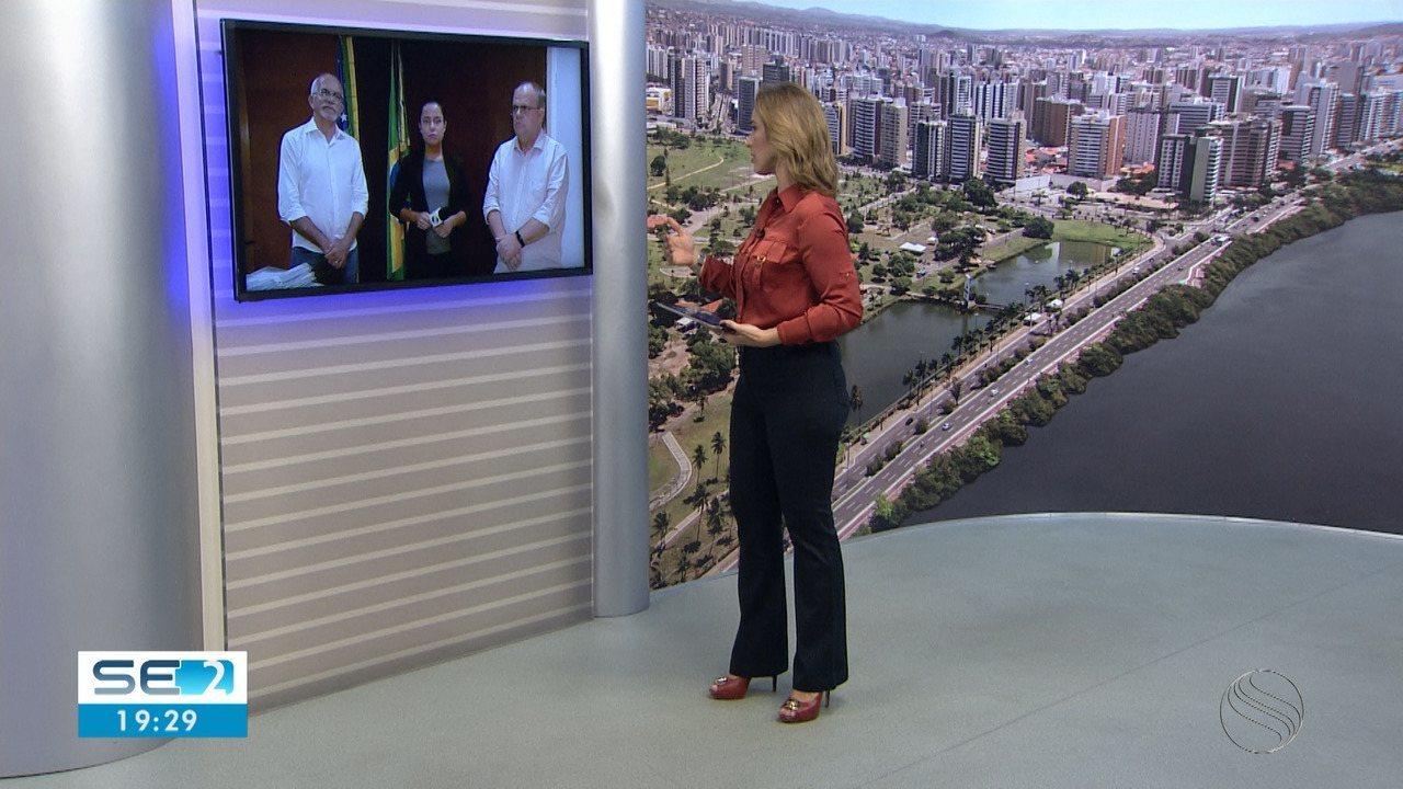 Governador de Sergipe e Prefeito de Aracaju falam de casos de Coronavírus no estado