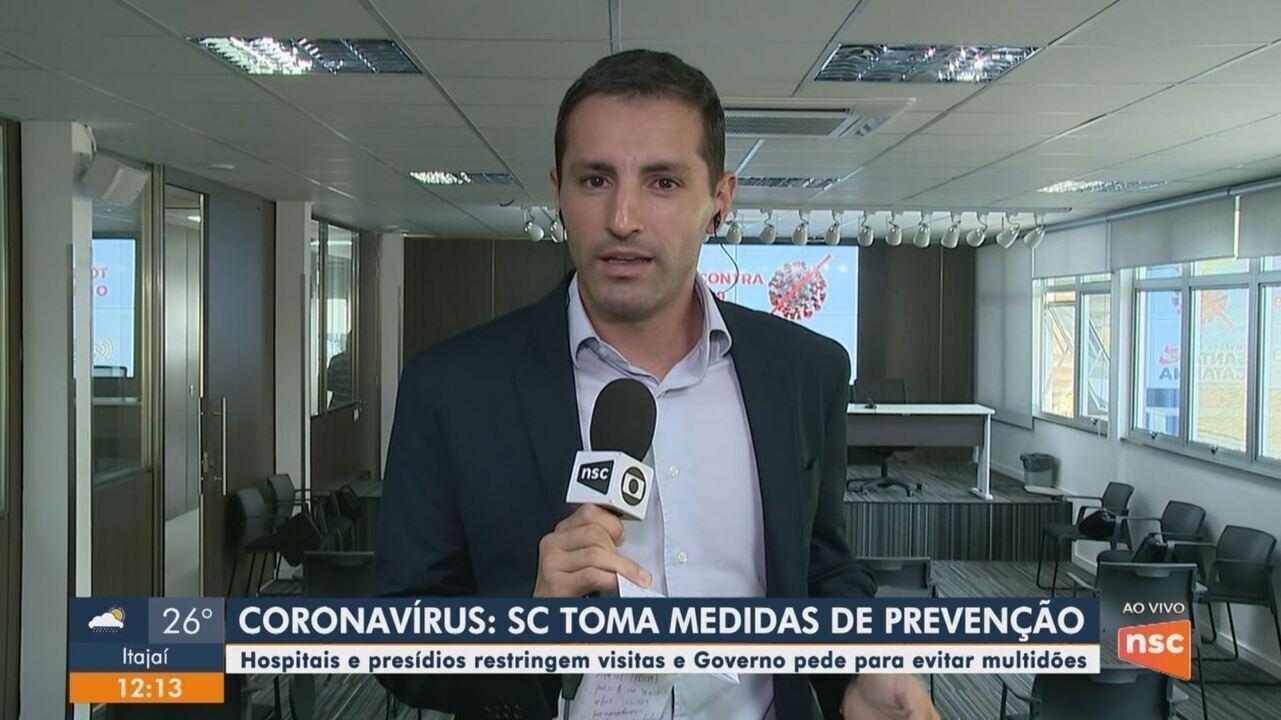 Medidas são tomadas para prevenção do coronavírus em Santa Catarina