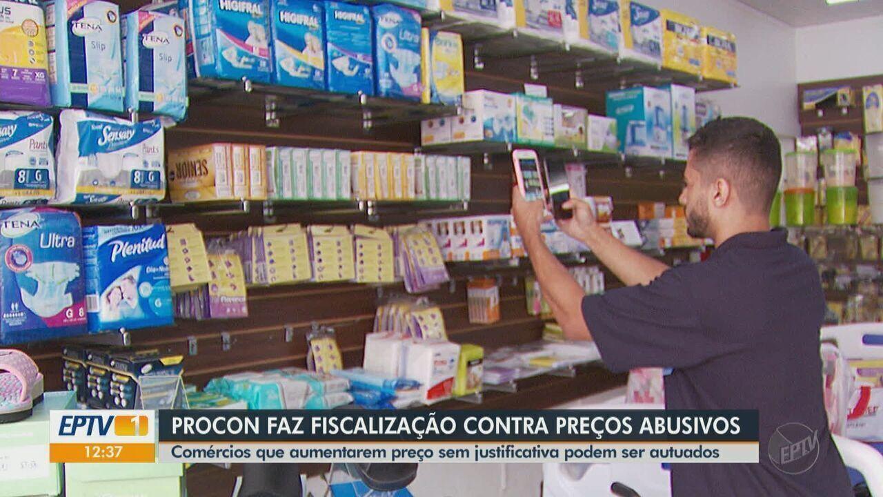 Procon realiza fiscalização contra preços abusivos de máscaras e álcool em gel