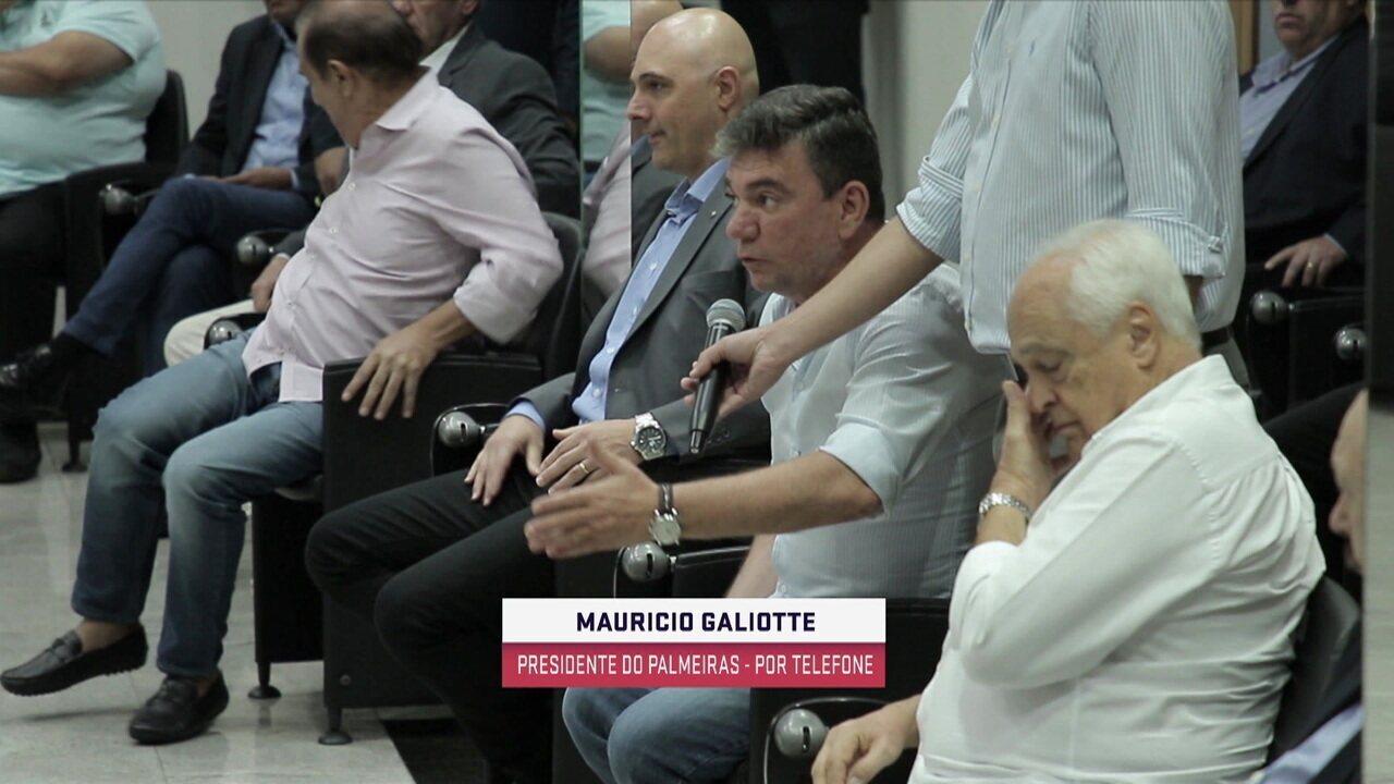 """Presidente do Palmeiras: """"Em momento de guerra, o foco deve ser na população"""""""