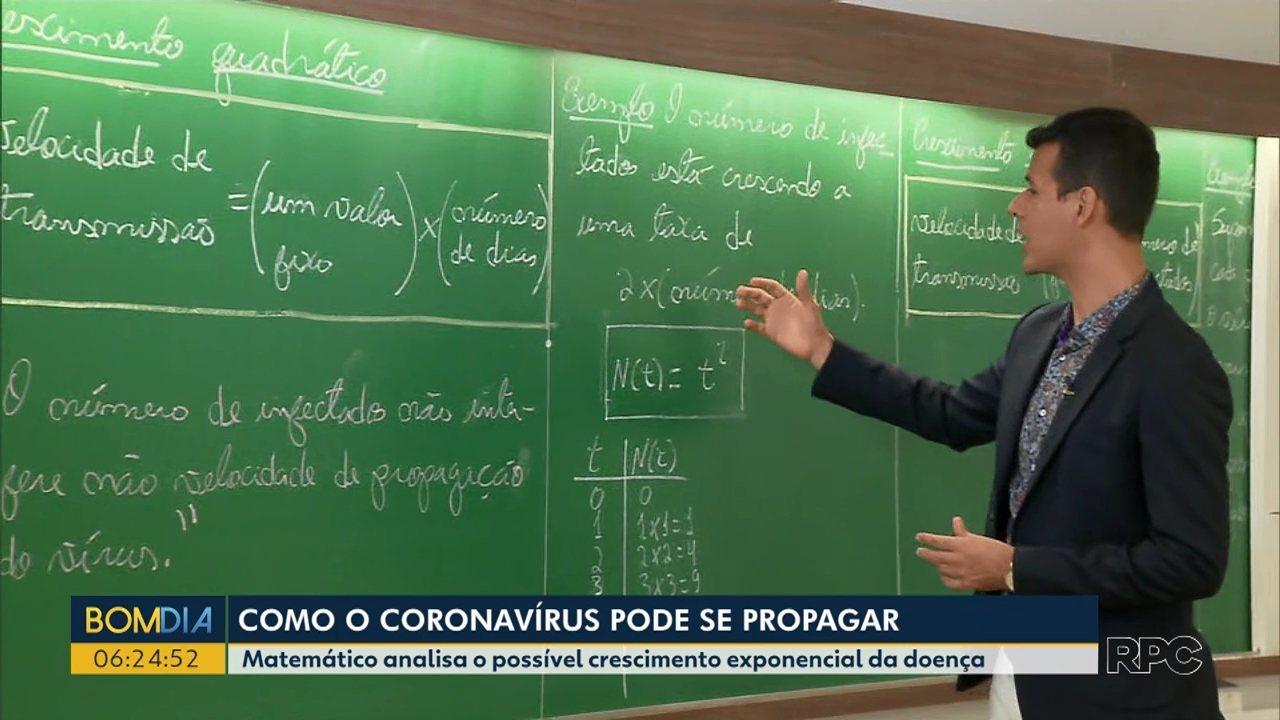 Matemático explica crescimento exponencial do novo coronavírus
