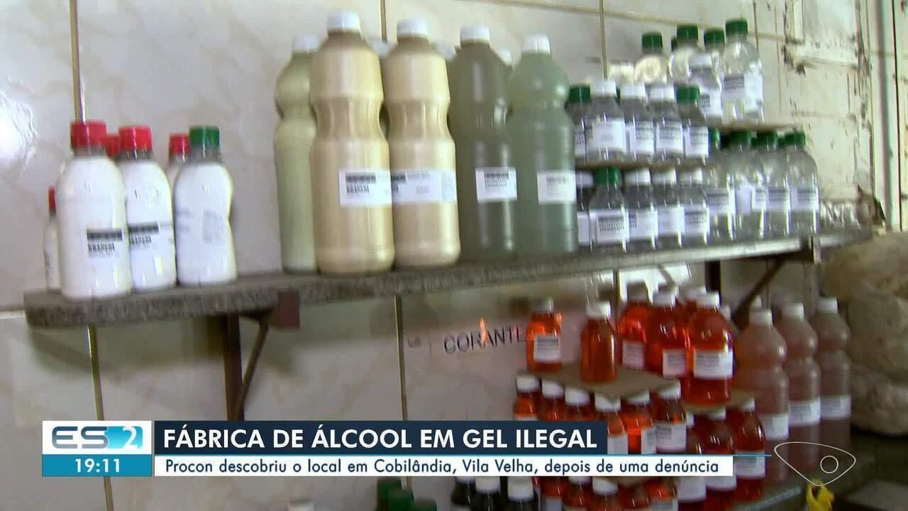 Procon descobre fábrica clandestina de álcool em gel em Vila Velha, ES