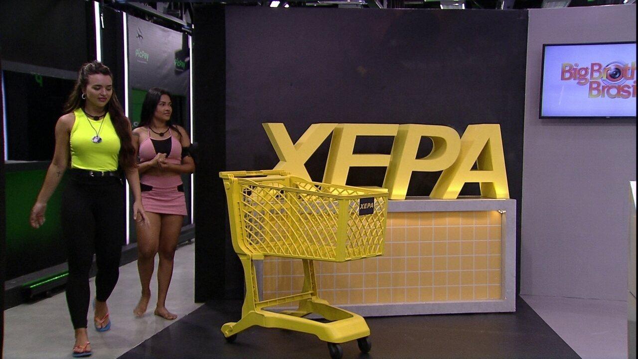 Flayslane e Rafa são sorteados para as compras da Xepa no Mercado BBB