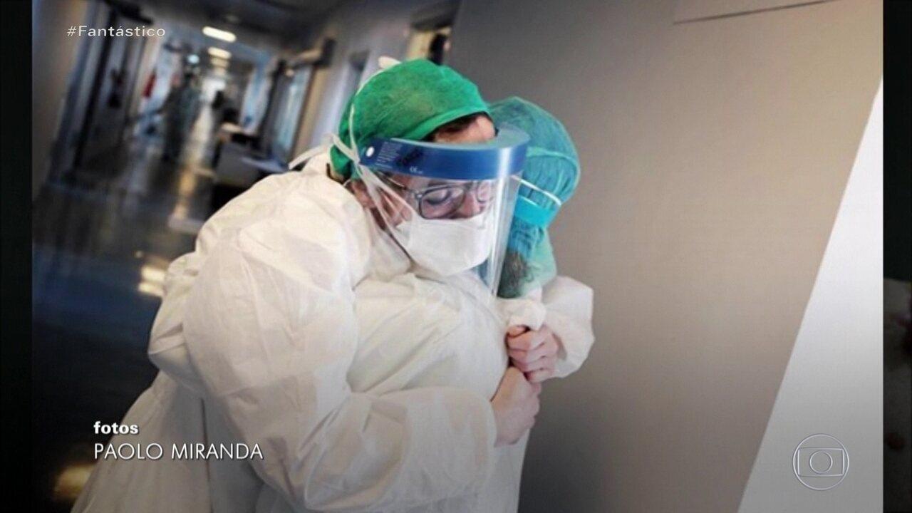 Drauzio Varella mostra os profissionais de saúde que estão combatendo o coronavírus