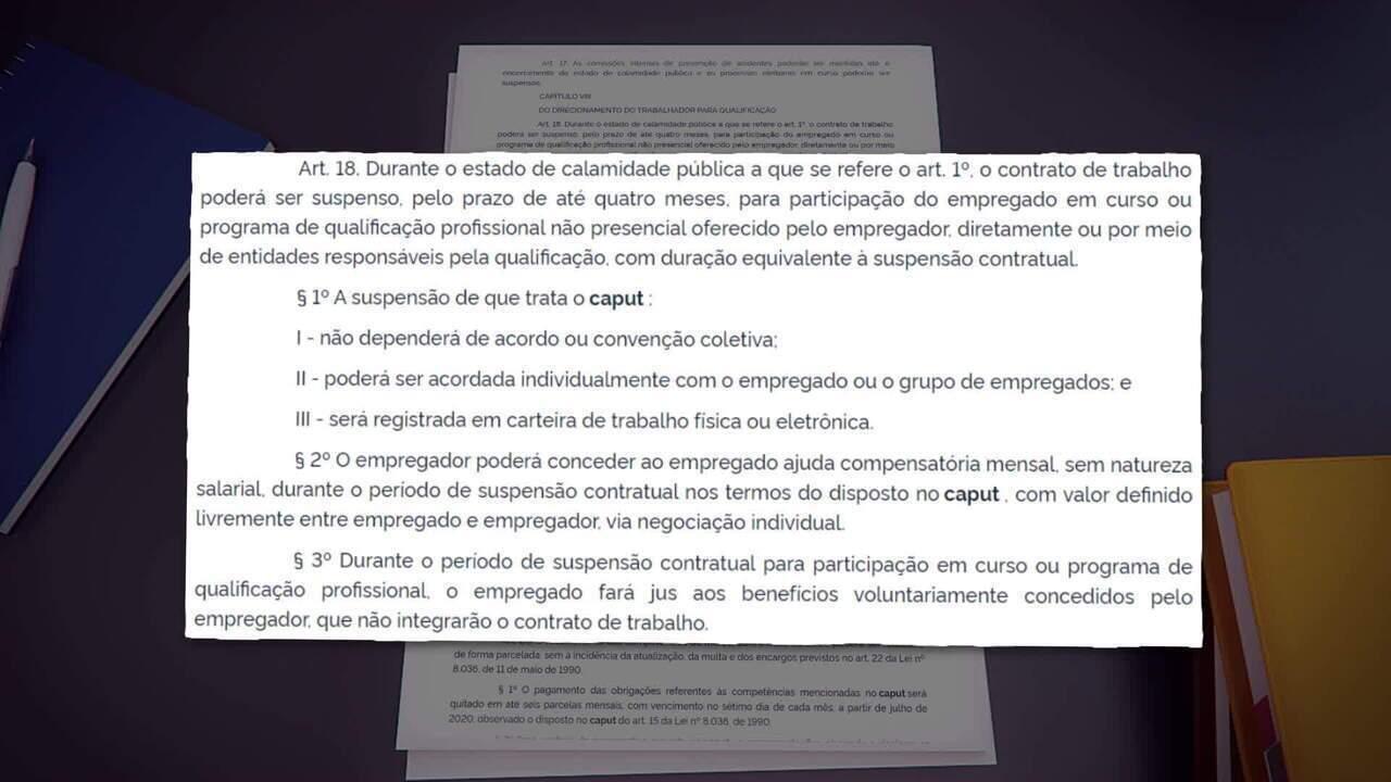 Coronavírus: MP autoriza suspensão do contrato de trabalho por até quatro meses