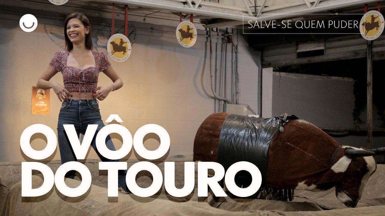 Vitória Strada revela segredos da cena com o Touro Mecânico