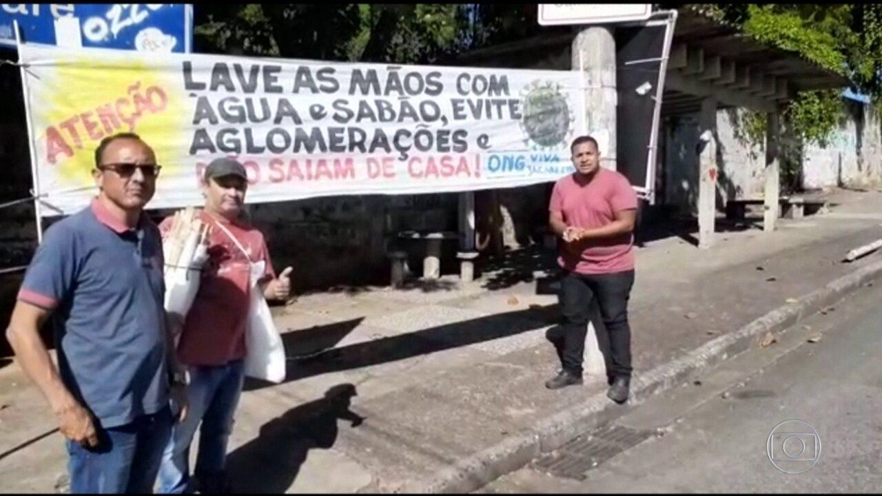 Favelas do RJ se mobilizam para combater o coronavírus