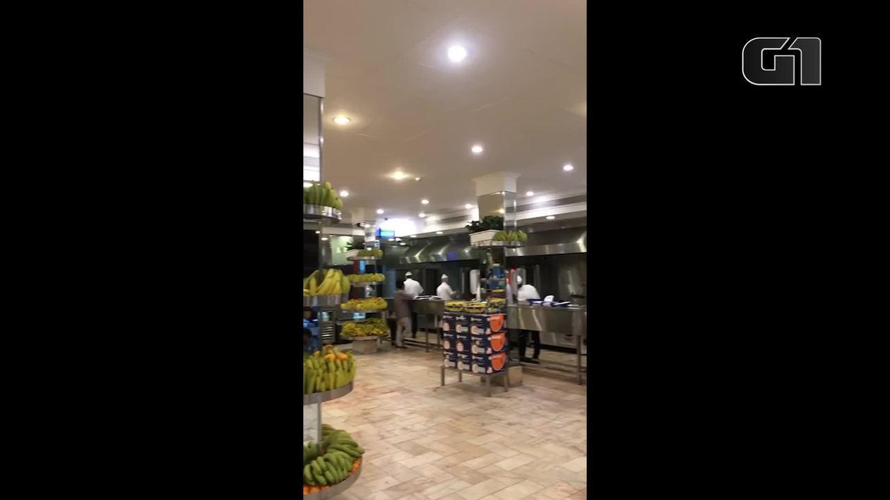 Brasileiro mostra restaurante durante pandemia de coronavírus em Riade