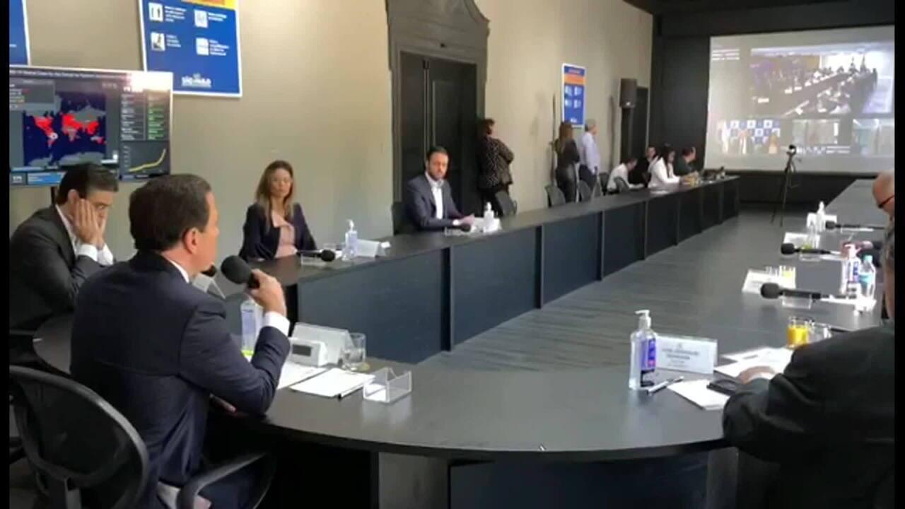 João Doria critica Bolsonaro durante reunião com governadores