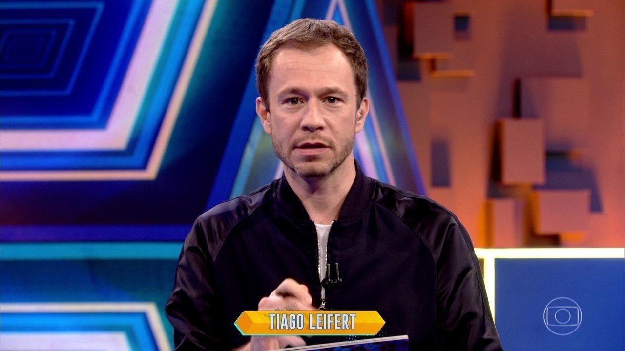 Tiago Leifert explica a dinâmica da semana